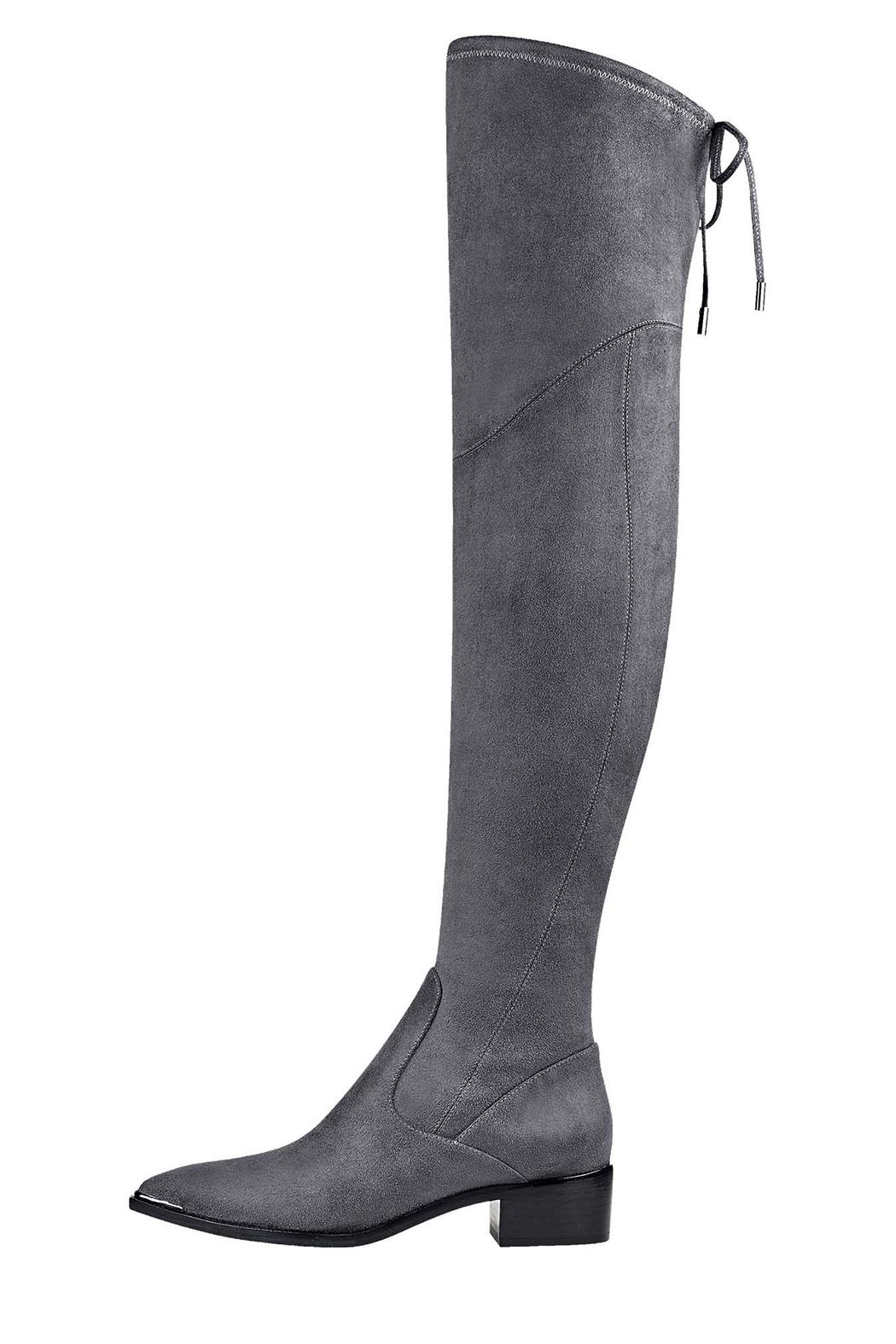 Marc Fisher LTD Yuna Grey Boot - Front Cropped Image