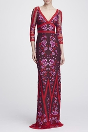 Marchesa 3/4 Sleeve Gown - Product Mini Image
