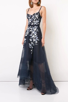 Marchesa Beaded Embroidered Gown - Product List Image