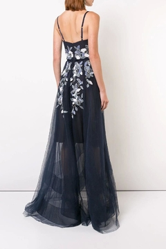 Marchesa Beaded Embroidered Gown - Alternate List Image