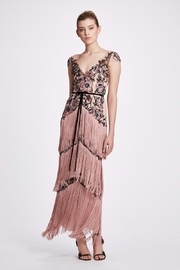 Marchesa Cap-Sleeve Fringe Gown - Product Mini Image