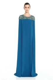 Marchesa Cape Caftan Gown - Front cropped