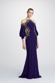 Marchesa Crepe-Back Satin Gown - Product Mini Image