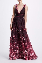 Marchesa Deep V- Gown - Product Mini Image