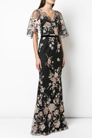 Marchesa Embroidered Cape-Sleeve Gown - Product Mini Image