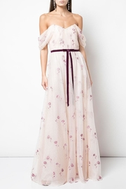 Marchesa Embroidered Off-Shoulder Gown - Product Mini Image