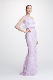 Marchesa Embroidered One-Shoulder Gown - Product Mini Image