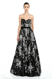 Marchesa Embroidered Satin Gown - Front cropped