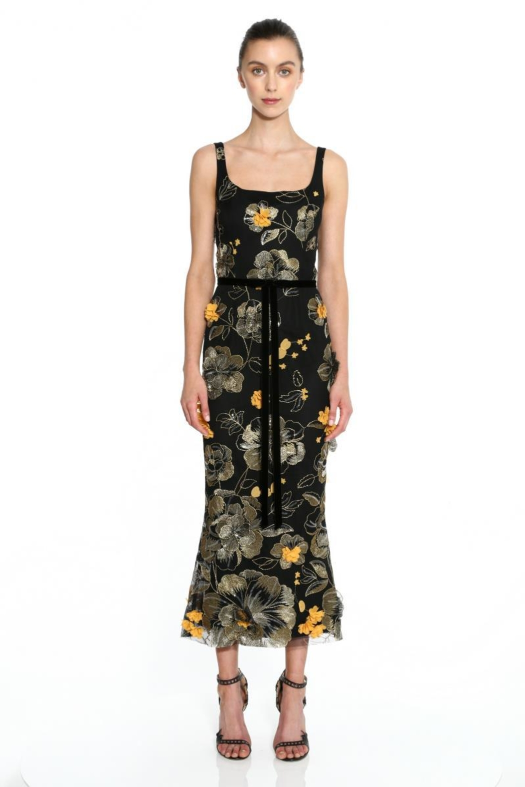 Marchesa Embroidered Sleeveless Dress - Main Image