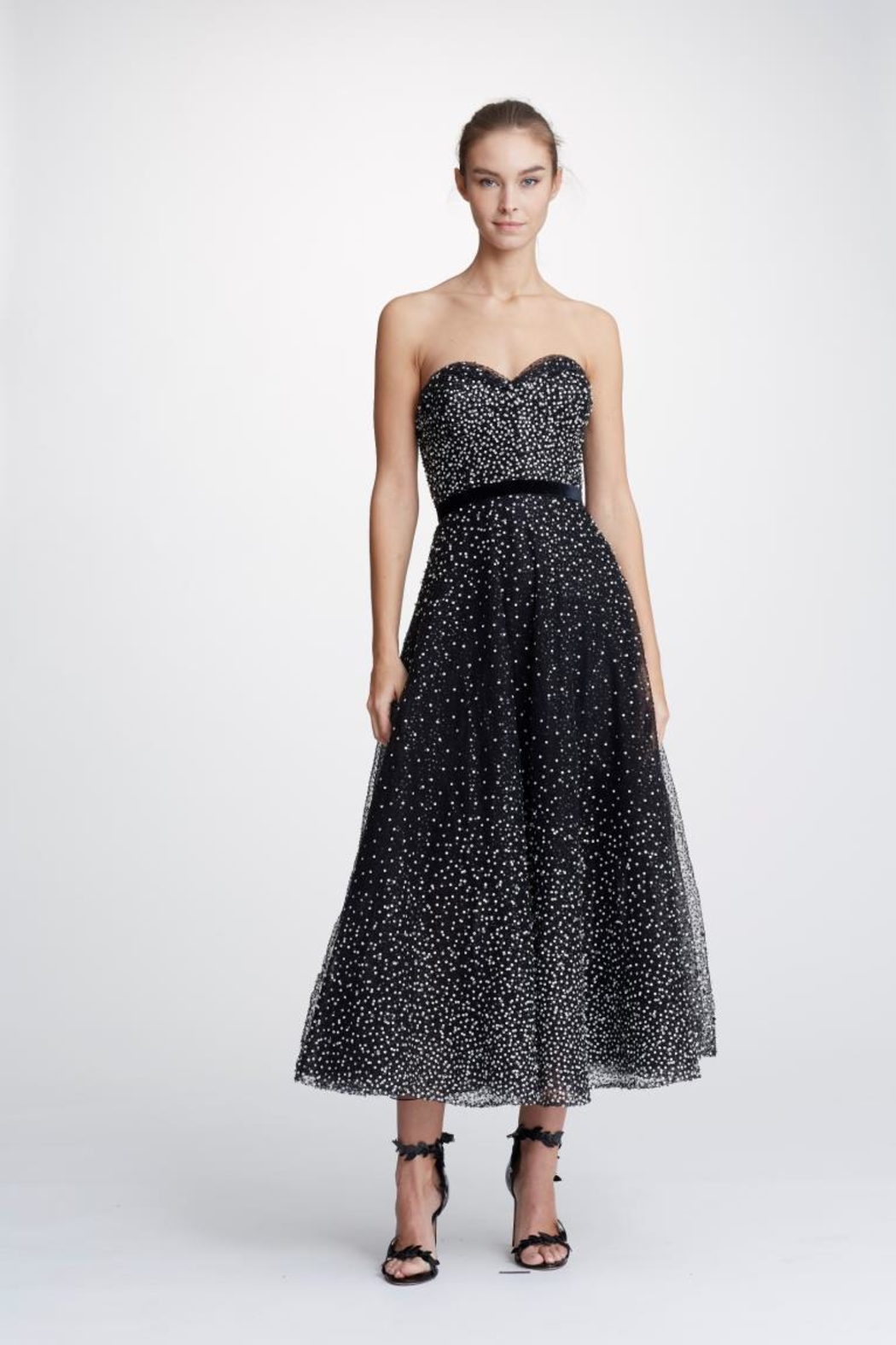 Marchesa Embroidered Strapless Dress - Main Image