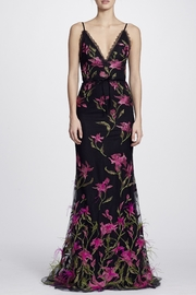 Marchesa Feather Embroidered Gown - Product Mini Image