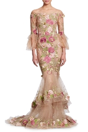 Marchesa Floral Embroidered Gown - Product Mini Image