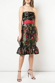 Marchesa Floral Mikado Dress - Product Mini Image