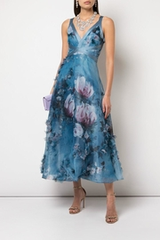 Marchesa Floral Organza Dress - Front cropped