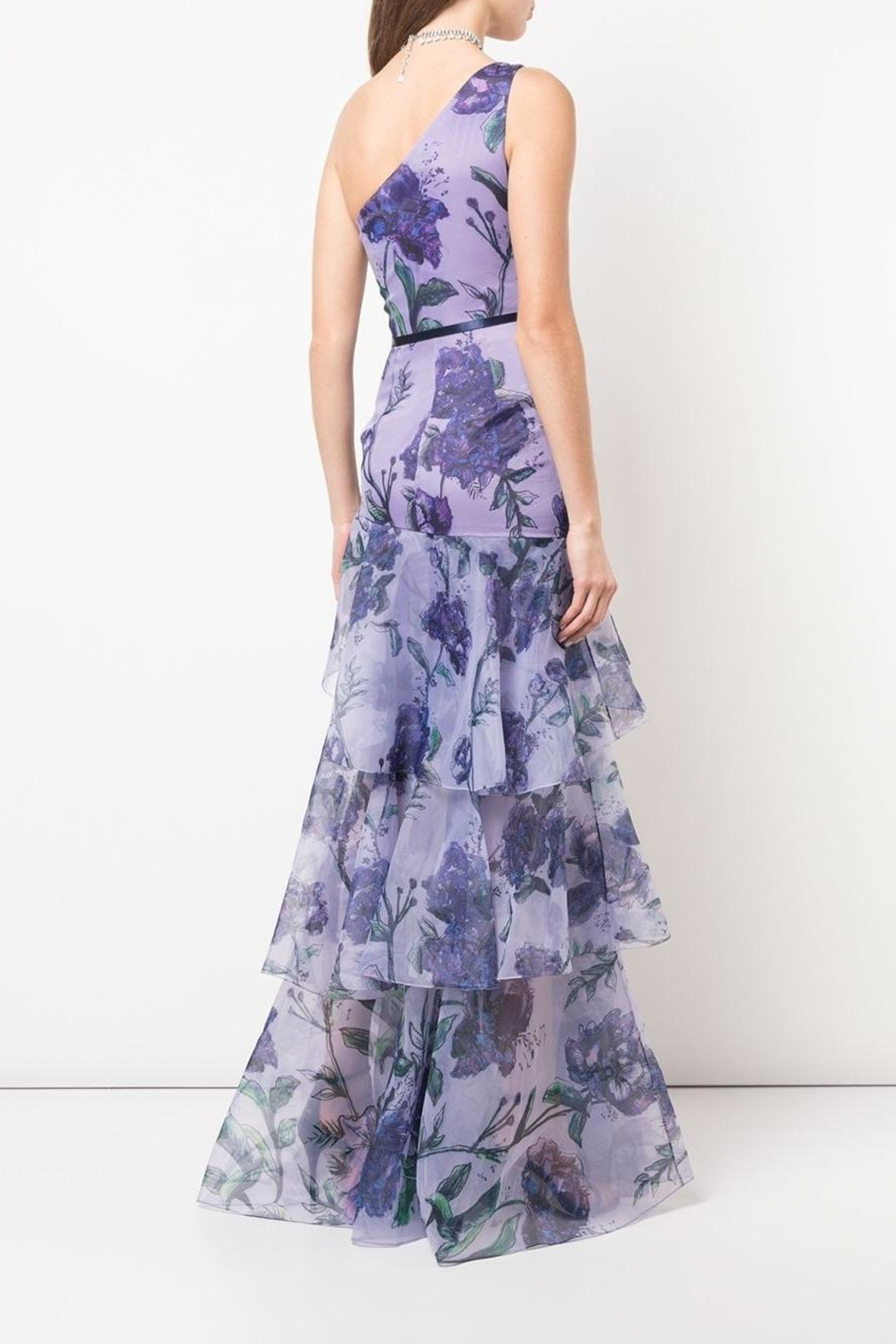 Marchesa Floral Organza Gown - Front Full Image