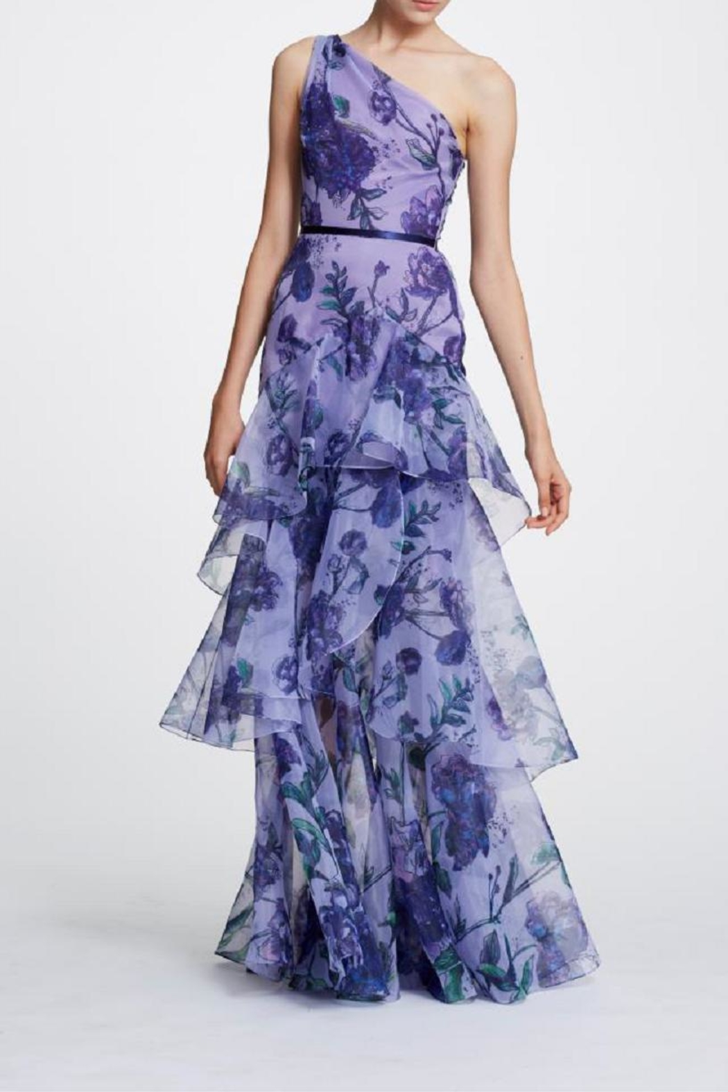 Marchesa Floral Organza Gown - Main Image