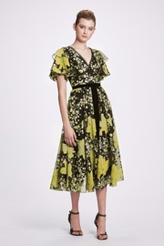 Marchesa Flutter-Sleeve Embroidered Dress - Product Mini Image