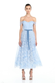 Marchesa Glitter Tulle Gown - Front cropped