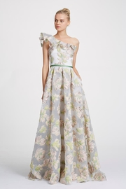 Marchesa Metallic Floral Gown - Product Mini Image