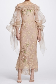 Marchesa Metallic Lace Dress - Product Mini Image