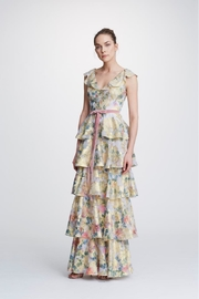 Marchesa Metallic-Printed Tiered Gown - Product Mini Image