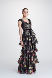 Marchesa Metallic Tiered Gown - Product Mini Image