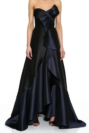 Marchesa Mikado Pique Gown - Front cropped