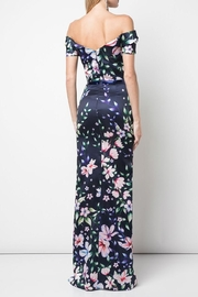 Marchesa Off-Shoulder Mikado Gown - Front full body