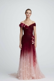Marchesa Off-Shoulder Ombre Gown - Product Mini Image