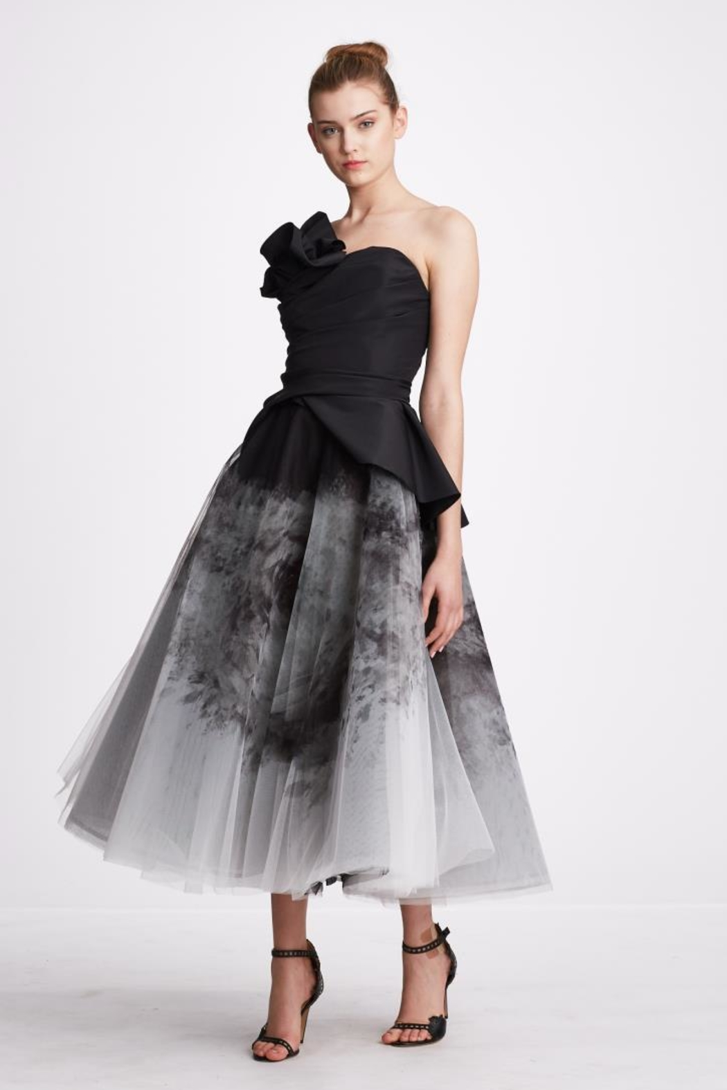 Marchesa Ombre Organza Dress - Front Cropped Image