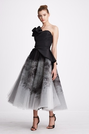 Marchesa Ombre Organza Dress - Front cropped