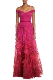 Marchesa Ombre Textured Gown - Product Mini Image