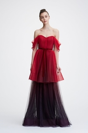 Marchesa Ombre Tulle-Tiered Gown - Product Mini Image