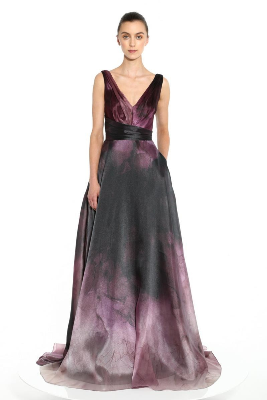 Marchesa Organza Printed Gown - Main Image