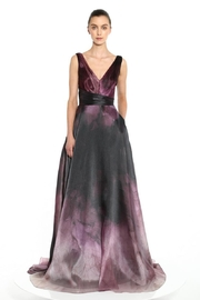 Marchesa Organza Printed Gown - Front cropped