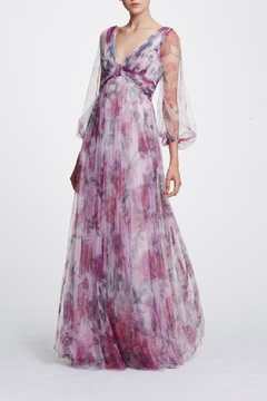 Marchesa Printed Floral Gown - Alternate List Image