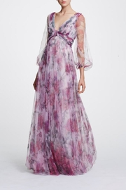 Marchesa Printed Floral Gown - Product Mini Image
