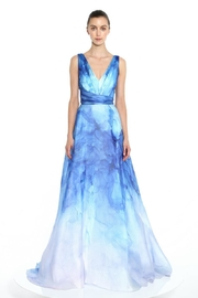 Marchesa Printed Organza Gown - Front cropped