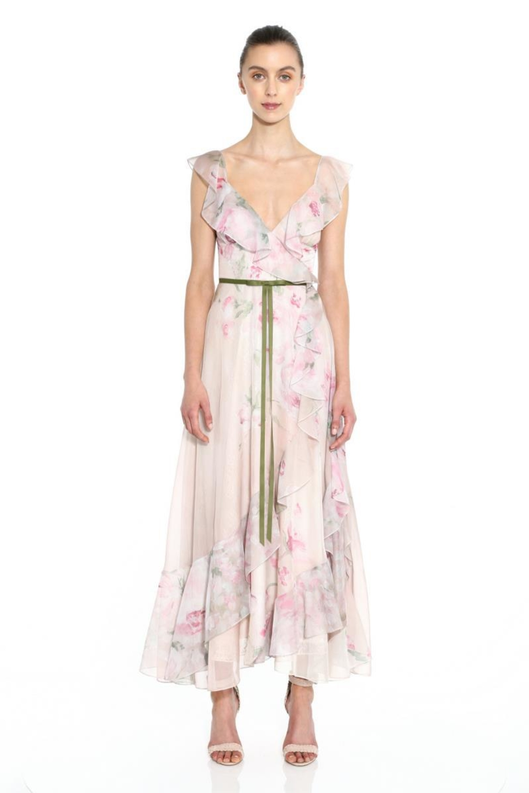 Marchesa Sleeveless Chiffon Dress - Main Image