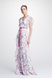 Marchesa Sleeveless Chiffon Gown - Product Mini Image