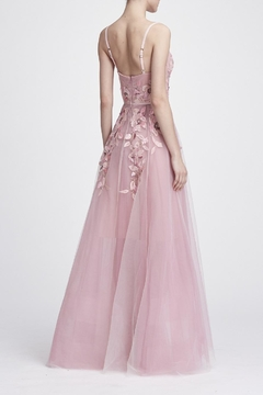 Marchesa Sleeveless Embroidered Gown - Alternate List Image