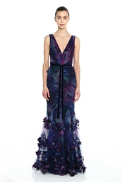 Marchesa Sleeveless Fit&Flare Gown - Product Mini Image
