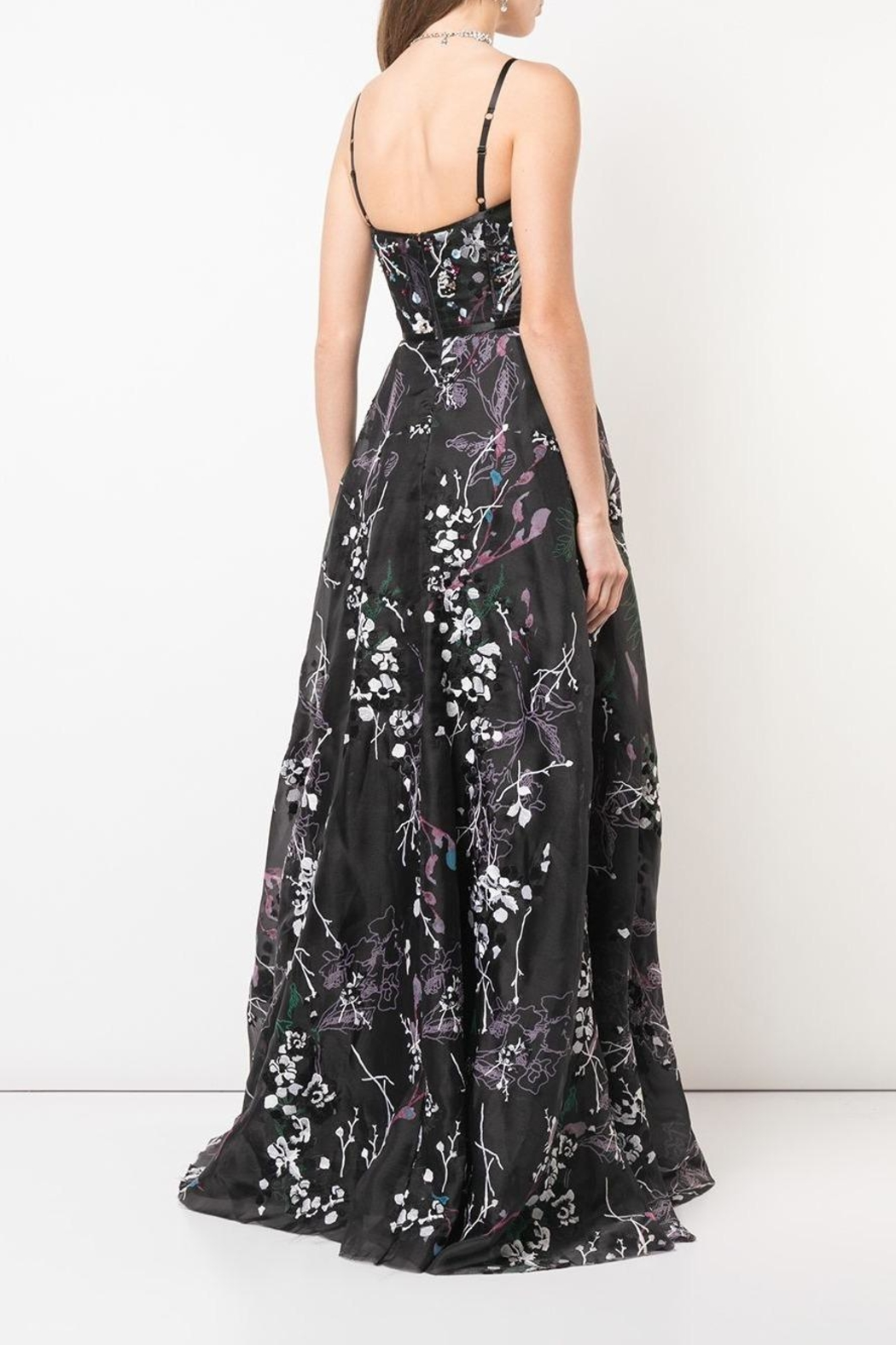 Marchesa Sleeveless Floral Gown - Front Full Image