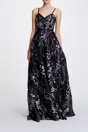 Marchesa Sleeveless Floral Gown - Front cropped