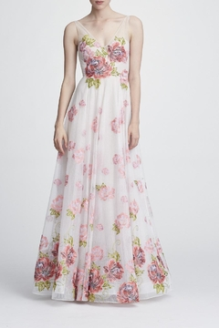 Marchesa Sleeveless Floral Gown - Product List Image
