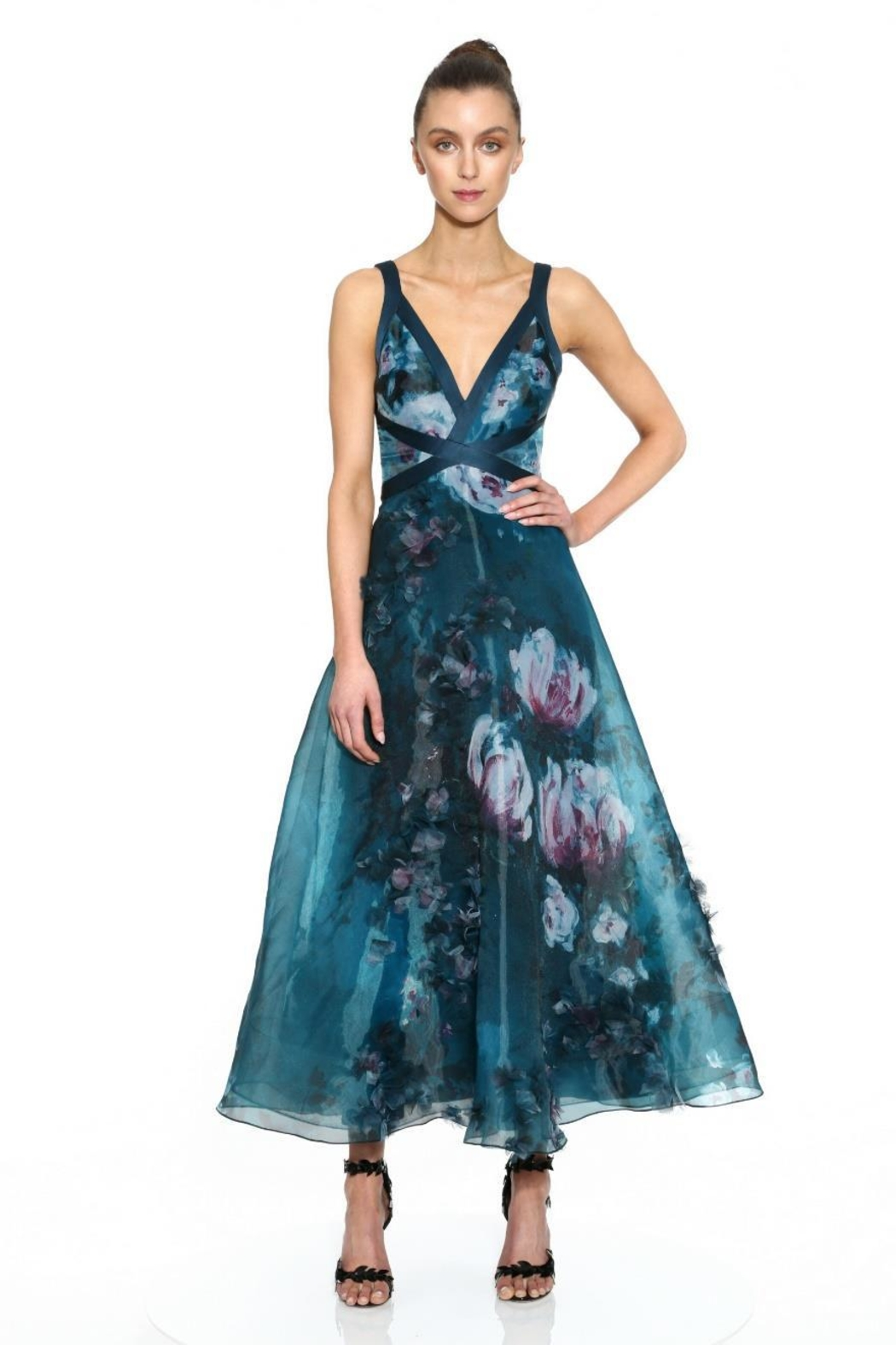 Marchesa Sleeveless Organza Dress - Main Image