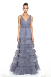 Marchesa Sleeveless Textured Gown - Product Mini Image
