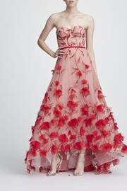 Marchesa Strapless Embroidered Gown - Product Mini Image