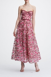 Marchesa Strapless Floral Dress - Product Mini Image