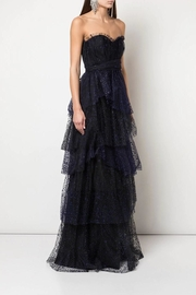 Marchesa Strapless Glitter Gown - Product Mini Image
